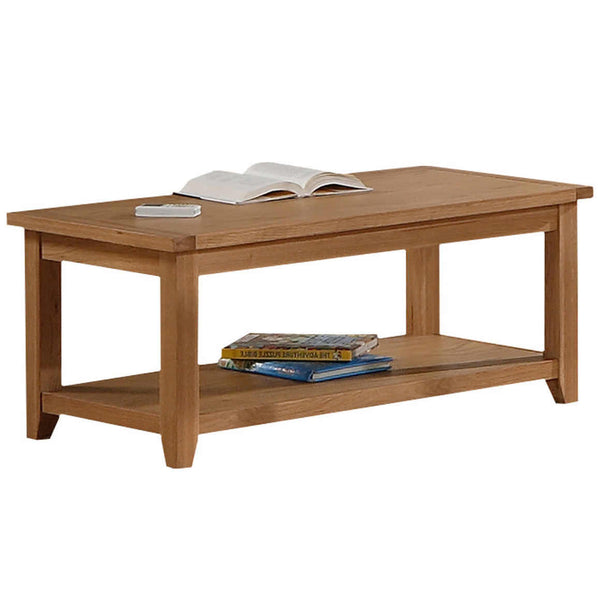 Solid Oak & Veneer Coffee Table