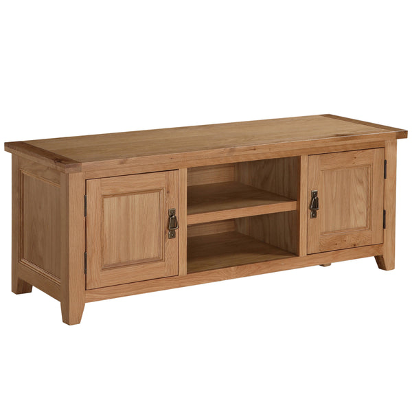 Solid Oak & Veneer TV Unit