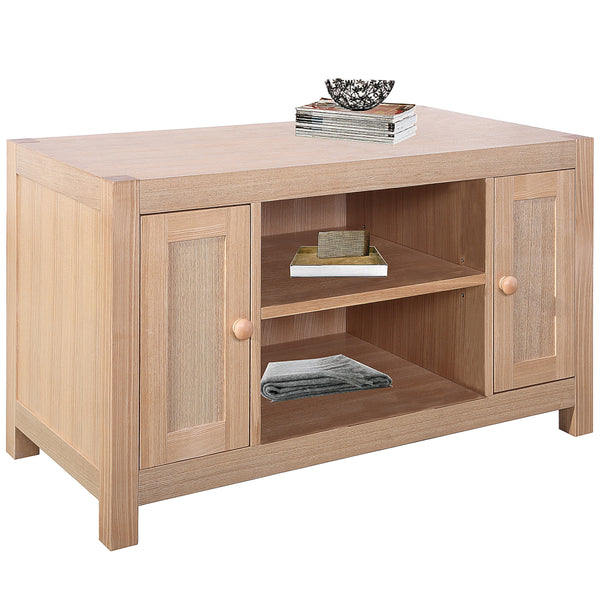 Solid Ashwood & Veneer TV Unit