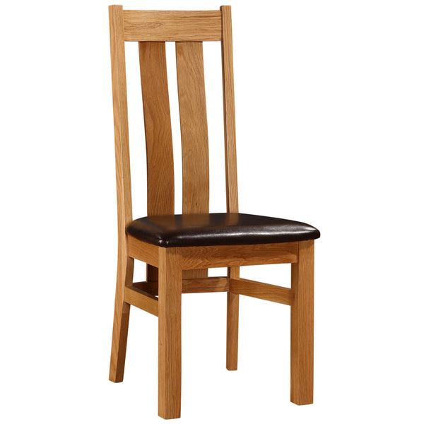 2x Solid American Oak Dining Chairs