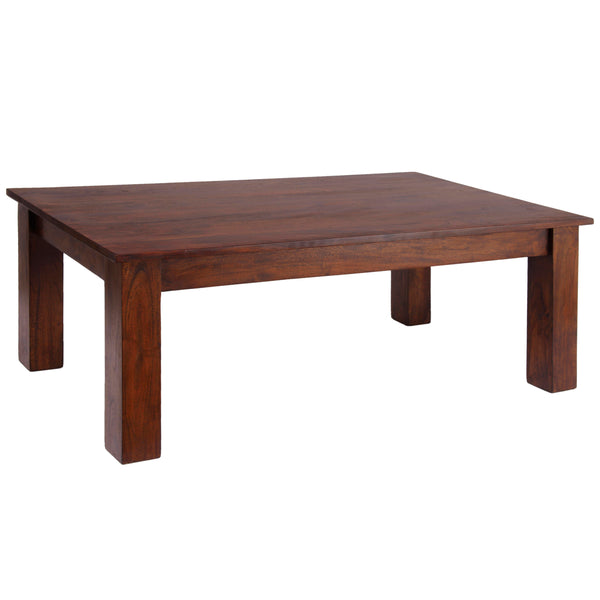 Dark Oak Finish Solid Acacia Coffee Table