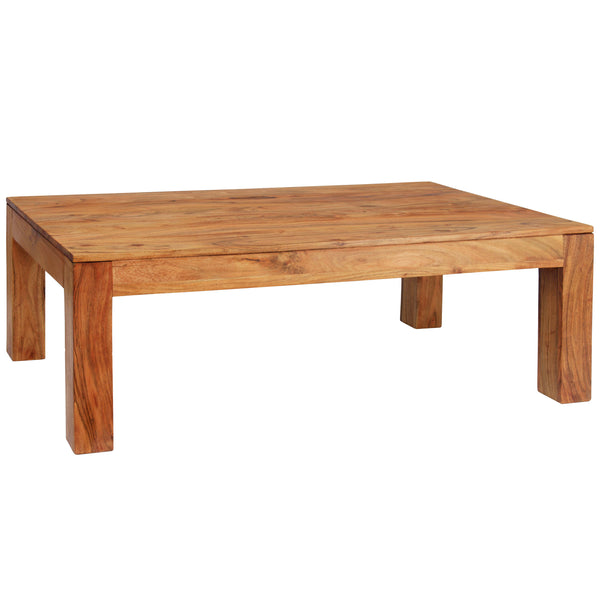 Brushed Sand Finish Solid Acacia Coffee Table