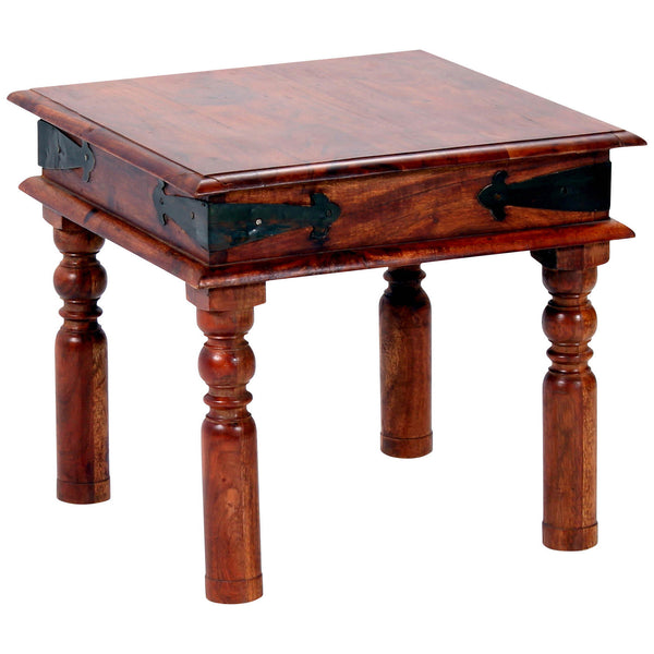Rustic Finish Solid Acacia Side Table
