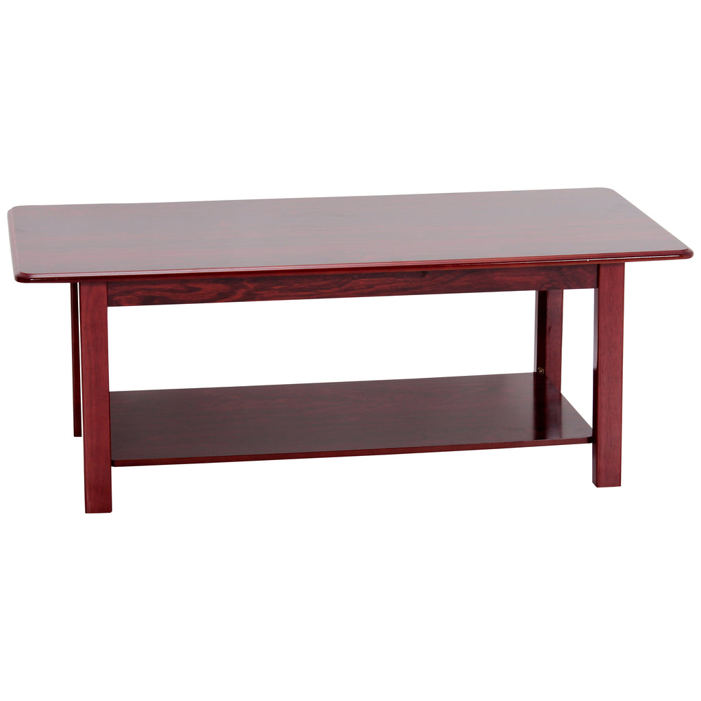 Satin Mahogany Finish Coffee Table