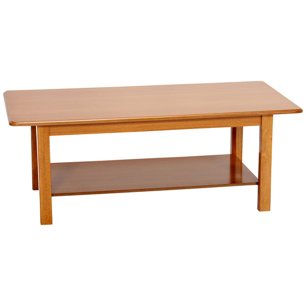 Satin Golden Oak Finish Coffee Table