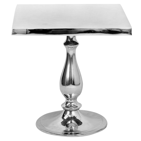 Polished Aluminium Metal Coffee & Side Table