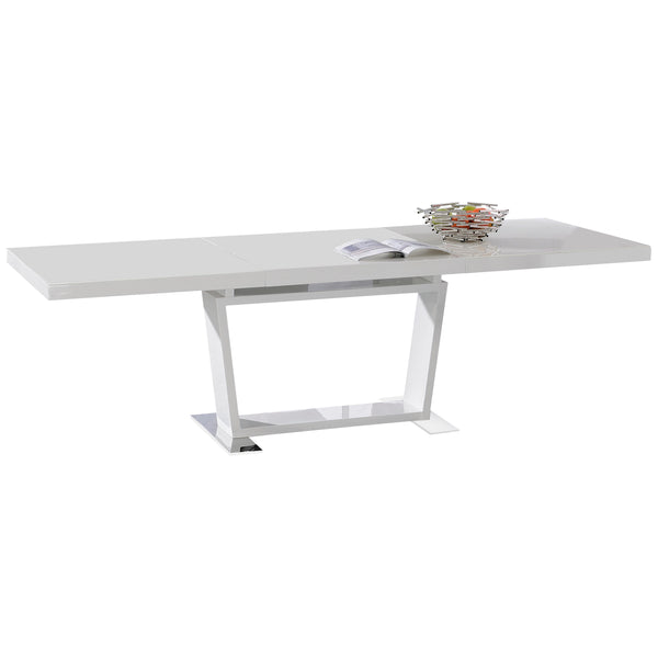 High Gloss White Extending Dining Table