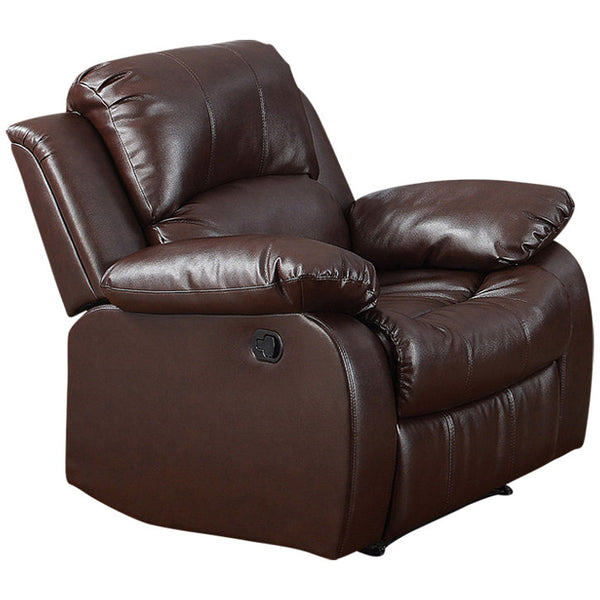 Bonded Brown Leather Recliner Chair