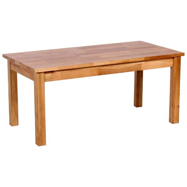 Solid Oak Finish Coffee Table