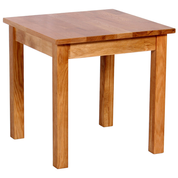 Solid Oak Finish Side Table