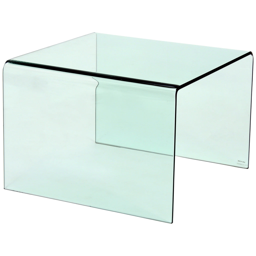 Tempered Bent Glass Side Table