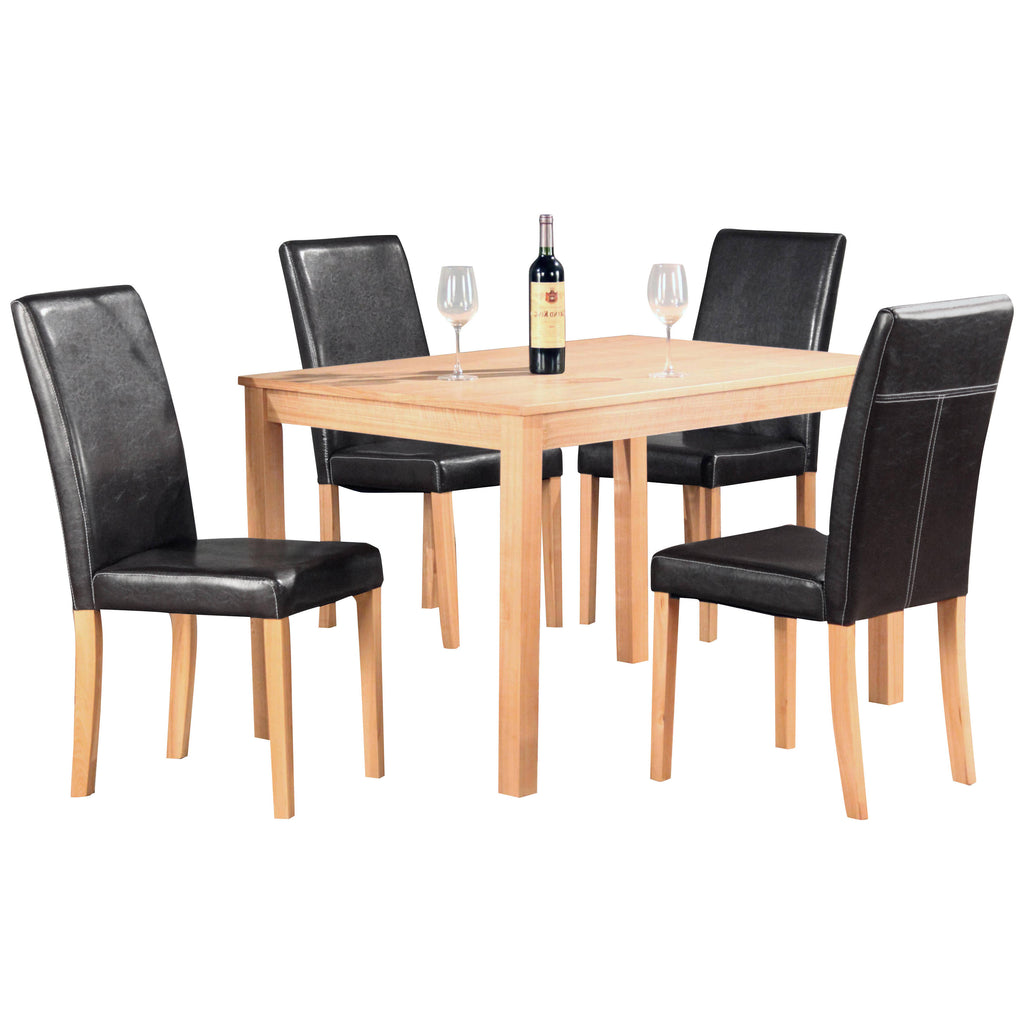 Solid Ash With Ash Veneer Top Dining Set