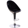 2x High Gloss & Chrome Bar Stools