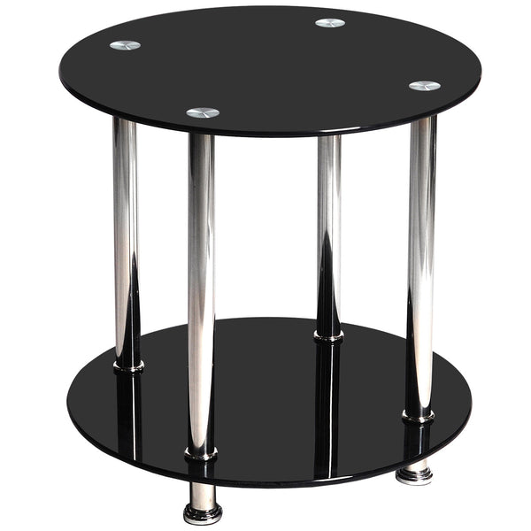 Steel & Glass Side Table