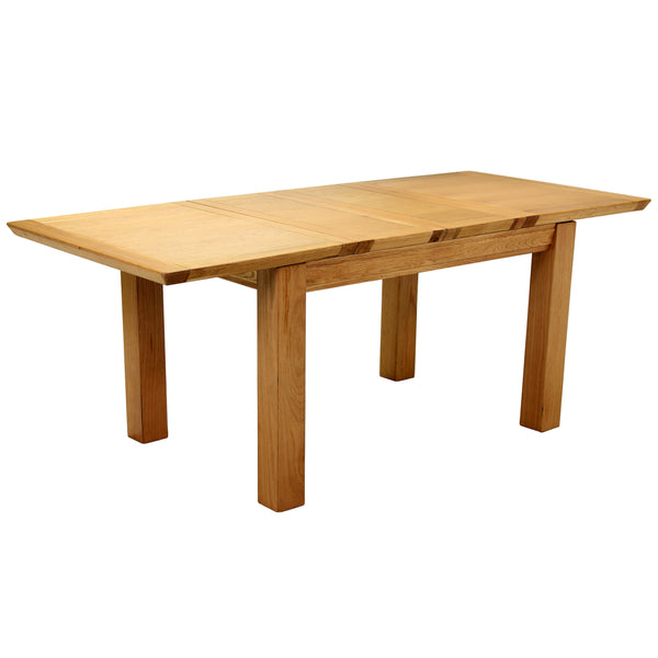 Solid American Oak & Veneer Extending Dining Table