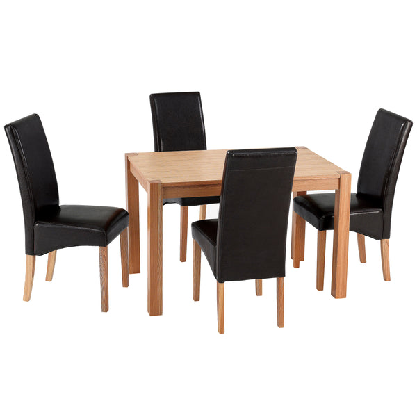 Solid Ashwood & Veneer Dining Set