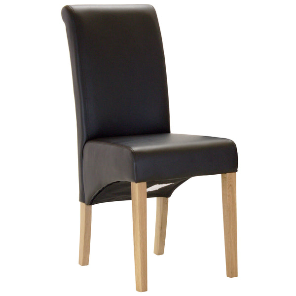 2x PU Leather Dining Chairs