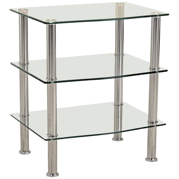 Chrome & Glass Media Unit