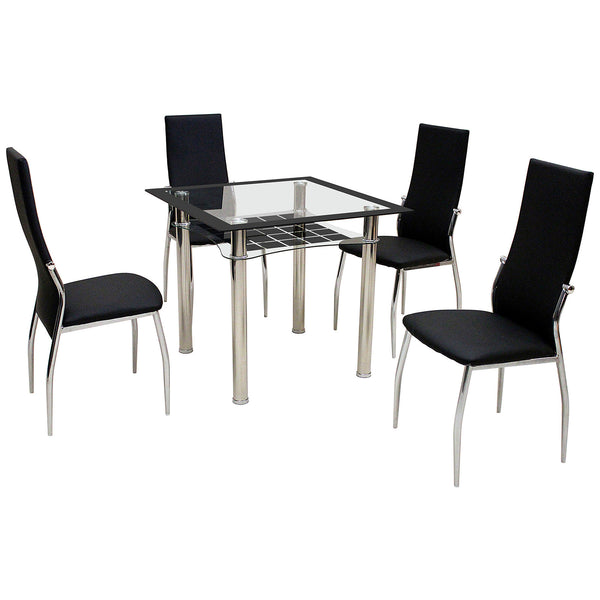 Metal & Glass Dining Set
