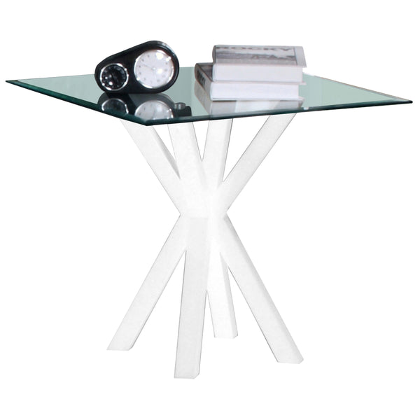 Clear Glass Side Table