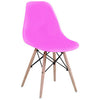 4x Plastic Eiffel Dining Chairs