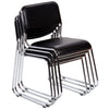 4x Chrome & Leather Dining Chairs