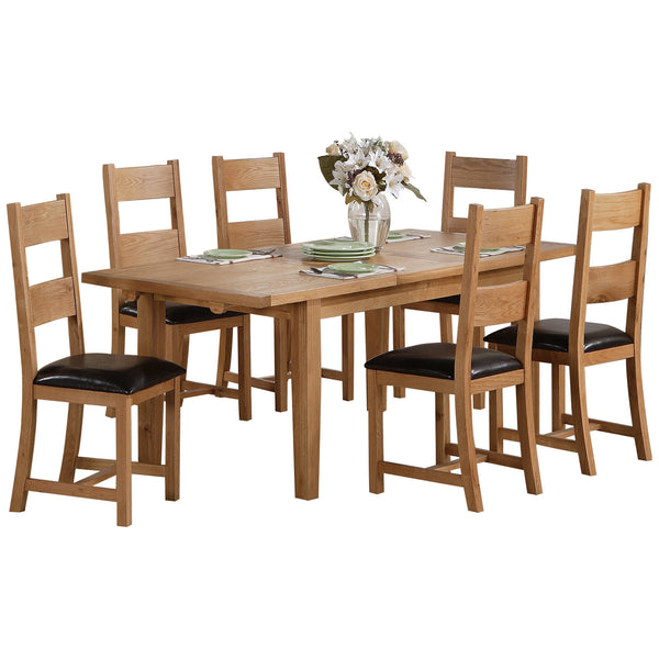 Solid Oak & Veneer Dining Set