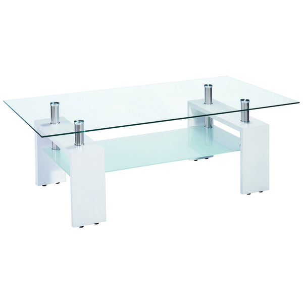 High Gloss Finish & Glass Coffee Table