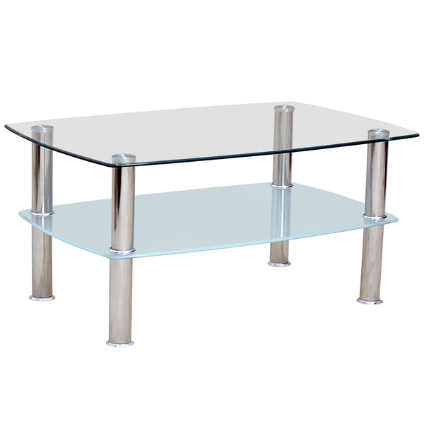 Chrome & Glass Coffee Table