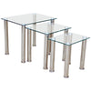 Chrome & Glass Nest of 3 Tables