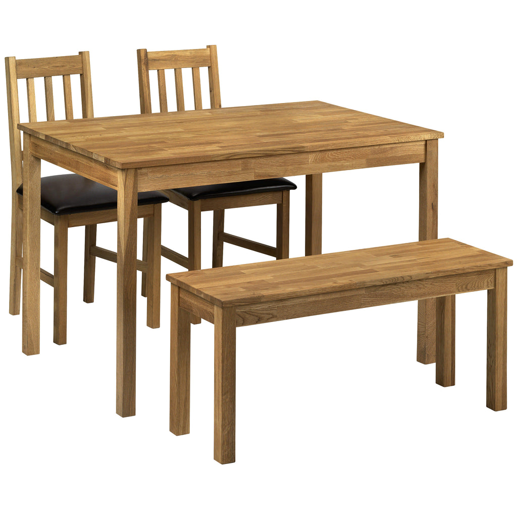 Solid American White Oak Dining Set