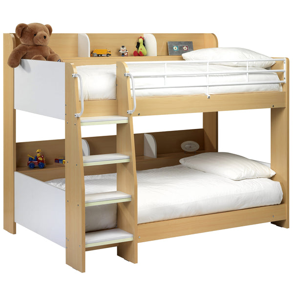 Maple & White Finish Bunk Bed