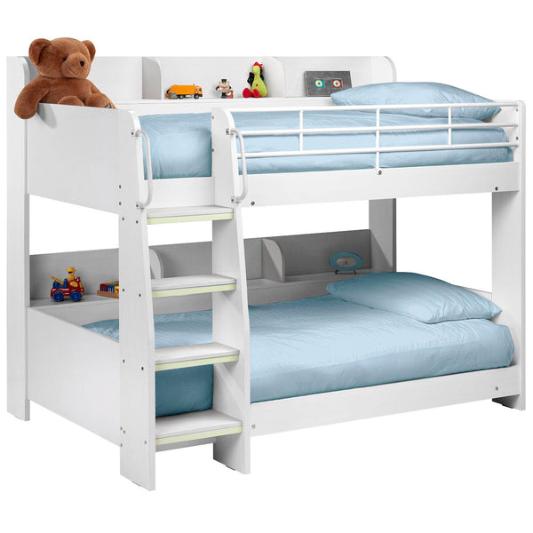 White Finish Bunk Bed