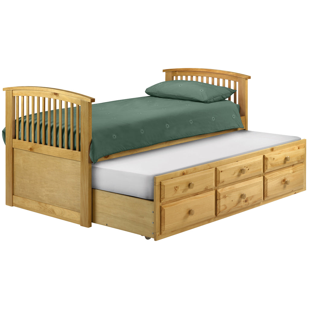 Antique Finish Pine Guest Bed