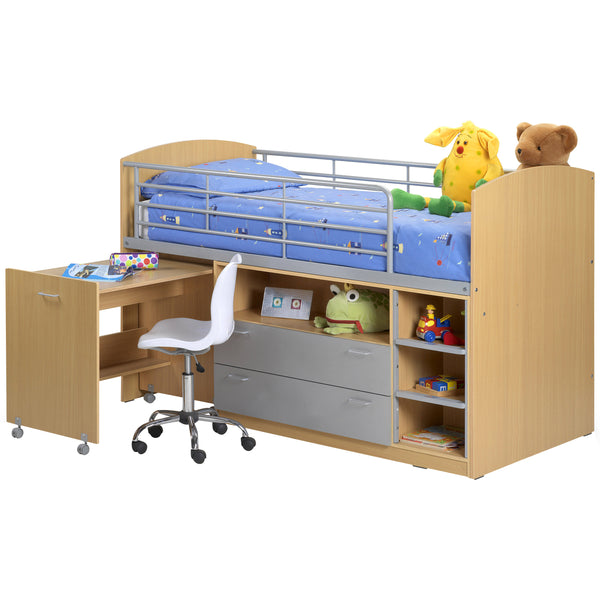Maple & Alumunium Finish Sleep Station