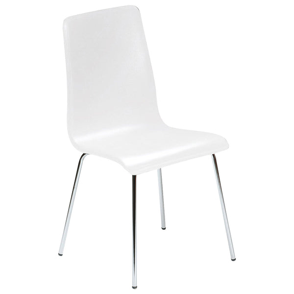 2x White Lacquered Bentwood Dining Chairs