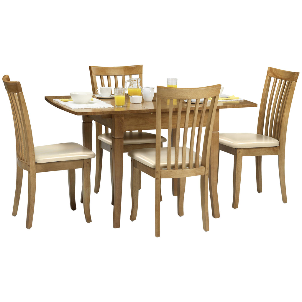 Maple Finish Extending Dining Set