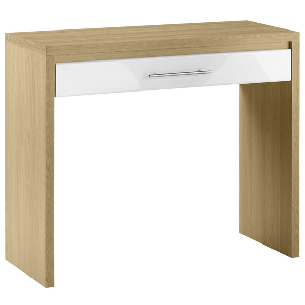 Light Oak & High Gloss White Finish Dressing Table