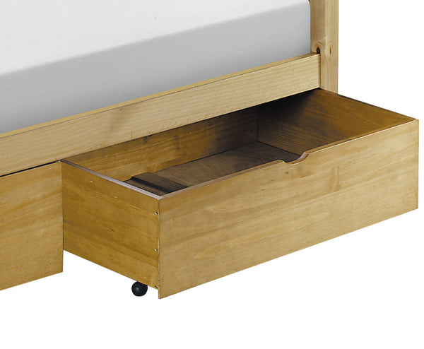 Antique Lacquered Finish Pine Under Bed Storage