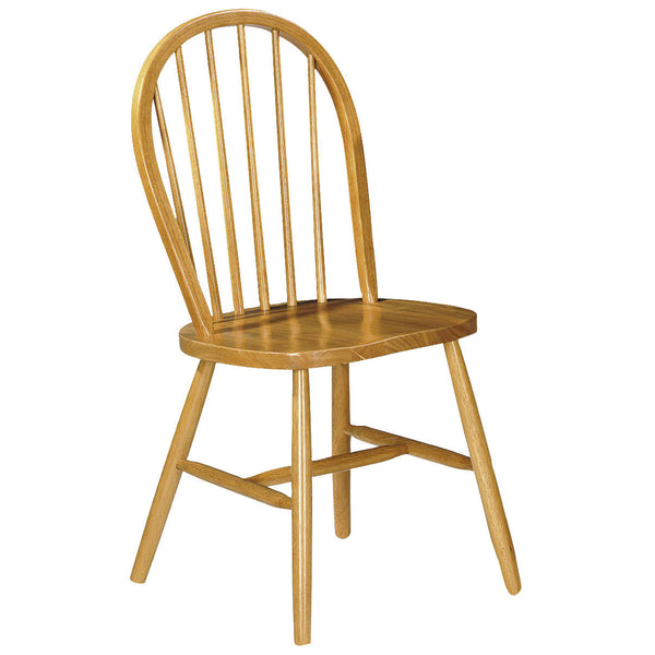 2x Honey Pine Finish Dining Chairs