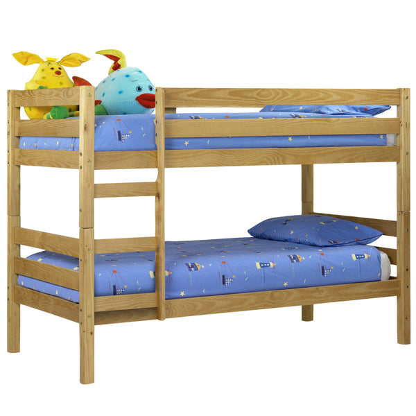 Antique Pine Lacquered Finish Bunk Bed