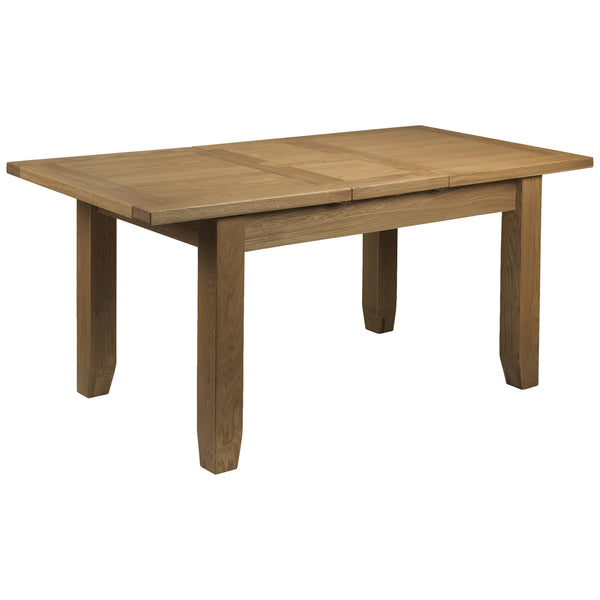 Solid Oak & Veneer Extending Dining Table