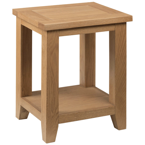 Solid Oak & Veneer Side Table