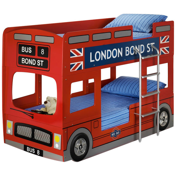 Red London Bus Bunk Bed