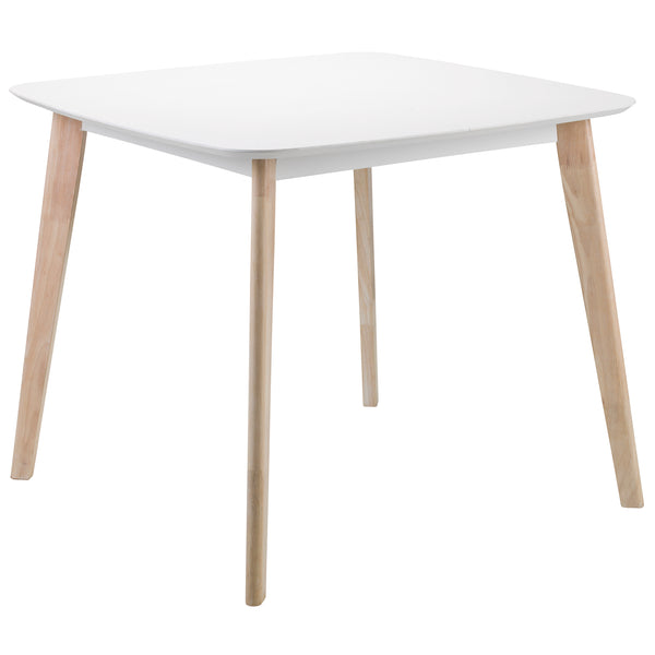 White Lacquered Finish & Limed Oak Effect Dining Table
