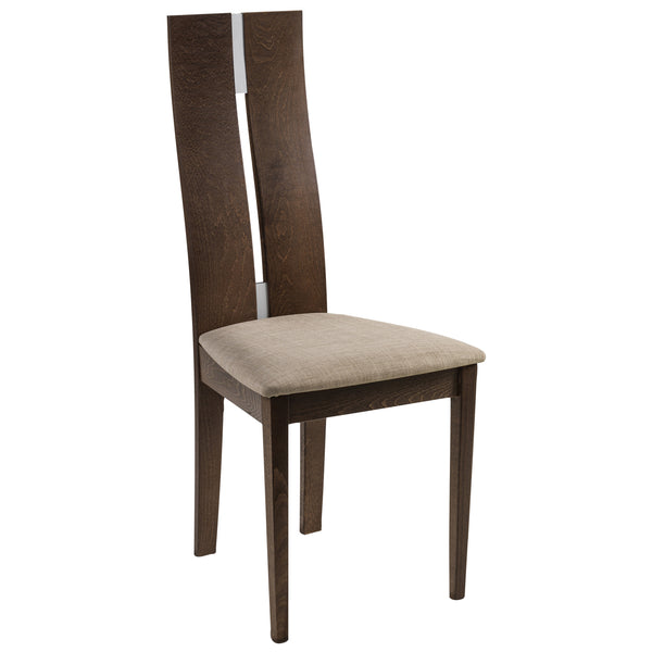 2x Walnut Finish Dining Chairs