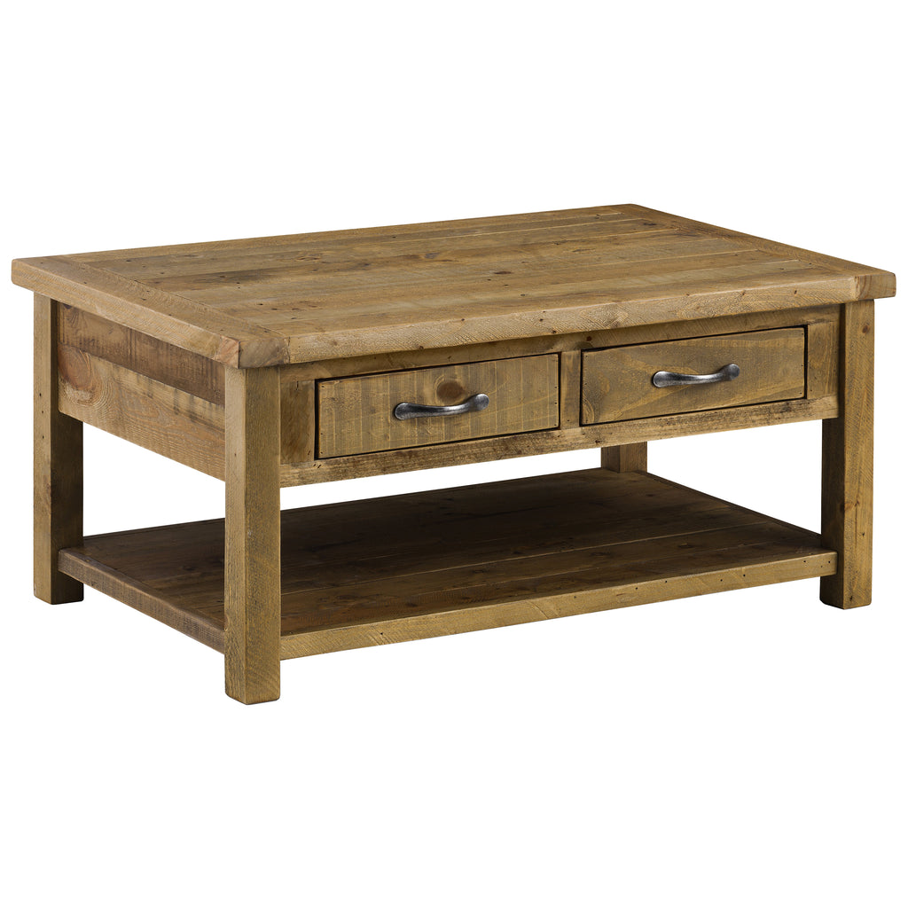 Rough Sawn Solid Pine Coffee Table