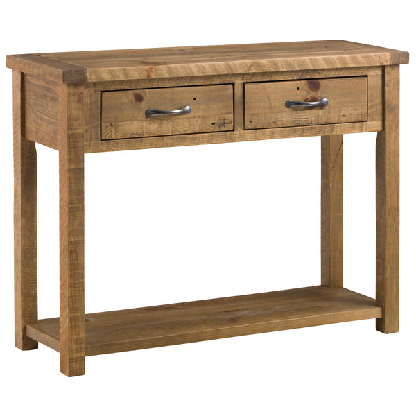 Rough Sawn Solid Pine Console Table