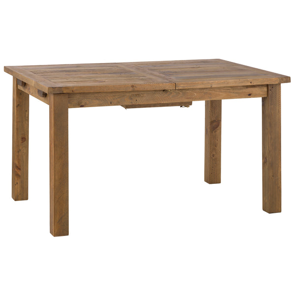 Rough Sawn Solid Pine Extending Dining Table