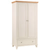 Stone White Finish & Oak Wardrobe